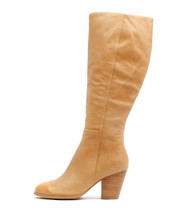 ROWDY Knee High Boots in Tan Leather
