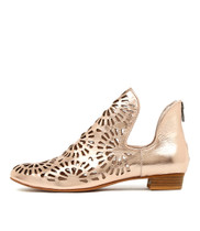 EVANO Ankle Boots in Rose Gold Leather