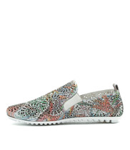 BALDWYN Flats in Pastel Multi Punch Leather