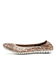 BAGBE Ballet Flats in Rose Gold Leather