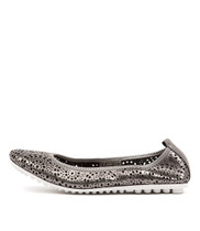 BAGBE Ballet Flats in Pewter Leather