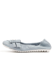 BACKUPS Ballet Flats in Pale Blue Leather