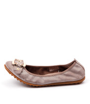 BELLEZ Ballet Flats in Taupe Distressed Leather