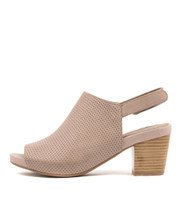 ZOOKY Heeled Sandals in Taupe Leather