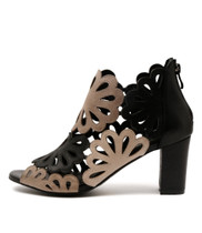 NICKY Heeled Booties in Black/Multi Leather
