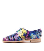 ABRA Lace-up Brogues in Blue/Multi Leather