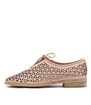 ABJECT Flats in Pale Pink Leather