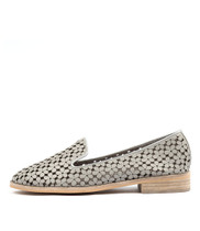 ARNOLD Loafers in Misty/ Silver Punched Leather