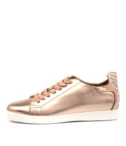 GALIAS Lace-up Sneakers in Rose Gold Leather