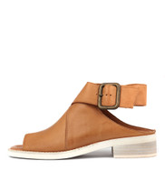 REEKER Sandals in Dark Tan Leather