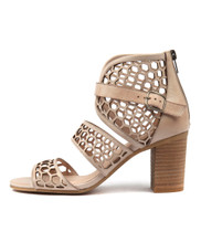 VANAS Heeled Sandals in Nude Leather