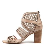 VANAS Heeled Sandals in Nude Leather