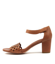 CANDYCA Heeled Sandals in Tan Leather