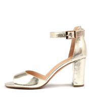 TILIA Heeled Sandals in Gold Leather