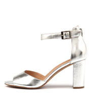 TILIA Heeled Sandals in Silver Leather