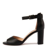 TILIA Heeled Sandals in Black Leather