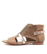 PARISHNA Sandals in Latte/ Pale Rose Leather