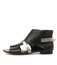 PARISHNA Sandals in Black/ Pewter Leather