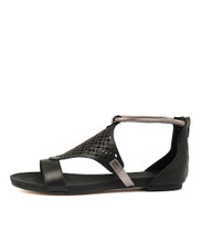 JIMBLE Sandals in Black/ Pewter Leather