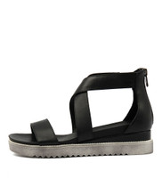 AFREDAS Sandals in Black Leather