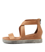 AFREDAS Sandals in Tan Leather