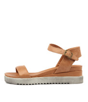 ABENA Sandals in Tan Leather