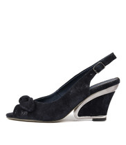 ESCARA High Heels in Navy/ Metallic Leather