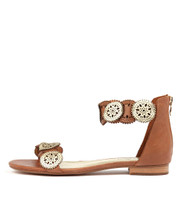 PEPPERS Sandals in Tan / Pale Gold Leather