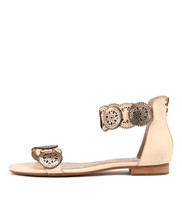 PEPPERS Sandals in Beige/ Rose Gold Leather