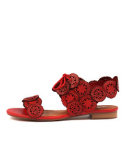 PELLONI Sandals in Red Leather