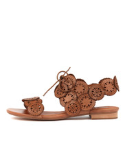 PELLONI Sandals in Tan Leather