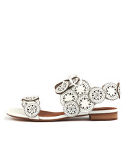 PELLONI Sandals in White Leather