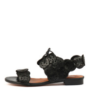 PELLONI Sandals in Black Leather