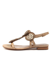 PERSIA Sandals in Latte/ Champagne Leather