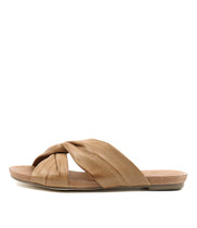 JANJANG Sandals in Tan Leather