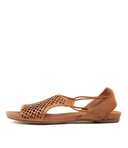 JADELIKE Sandals in Tan Leather