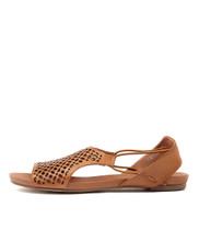 JADELIKE Sandals in Tan Leather