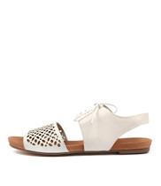 JABILA Sandals in White Leather
