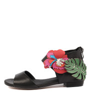 QUIMPO Sandals in Black/ Bright Multi Leather