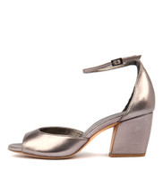 PRIMA Heeled Sandals in Pewter Leather