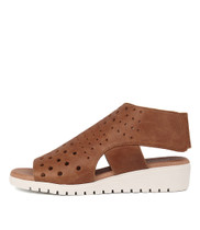MISTIME Sandals in Tan Leather