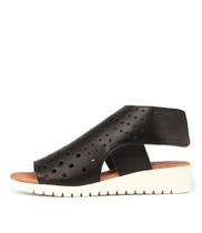 MISTIME Sandals in Black Leather