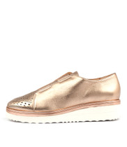 PELSOM Flatform Sneakers in Rose Gold Leather