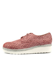 MERFECT Flatforms in Pink Punch Leather