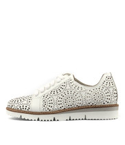 WILSY Flatform Sneakers in White Punch Leather
