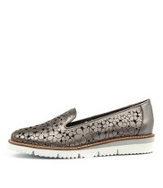 WENONA Flatforms in Pewter Punch Leather