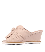 UTILITY Wedge Sandals in Pale Pink Leather