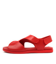 HYPER Sandals in Red Leather