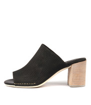 DARLENE Heeled Sandals in Black Leather