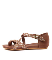 GAMASI Sandals in Taupe/ Champagne Leather